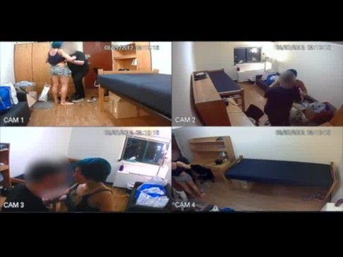 Meteu a camera escondida no quarto e filmou a namorada