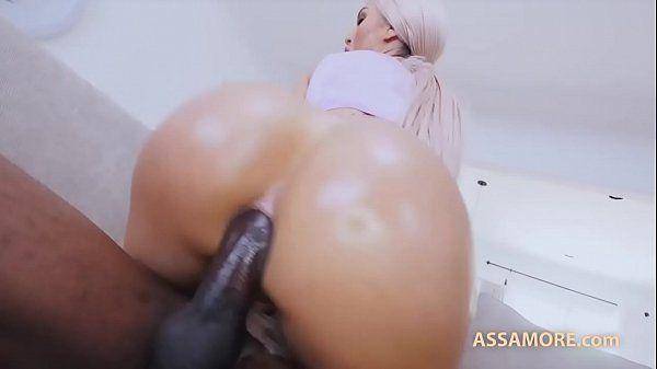 Sexo putaria boa foda com loira cuzudona fazendo anal interracial